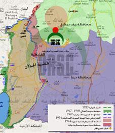 الوضع العسكري في محافظة القنيطرة مع خريطة